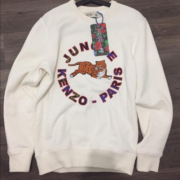 e29f0020 Kenzo Tops | X Hm White Sweatshirt Size S | Poshmark