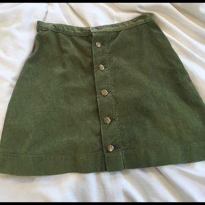 Olive green American apparel skirt