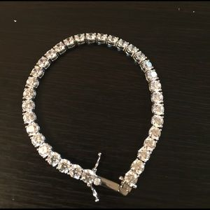 Jewelry - Crystal and silver tennis bracelet