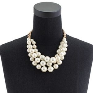 J. Crew Twisted Pearl Necklace