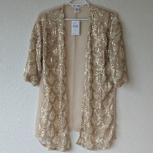 Other - Gold Sequined Kimono