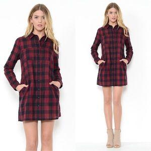 Esley Dresses & Skirts - NWT🌹Flirty Plaid mini dress🌹