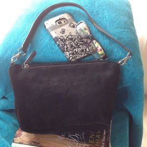 Tignanello Handbags - Tignanello Suede Black purse