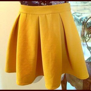Yellow A-line Mini Skirt.
