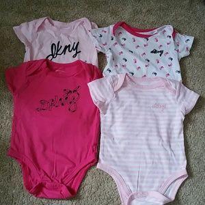 DKNY baby shirts 4pk