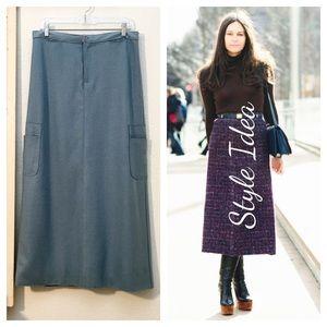 "Calvin Klein Jeans Dresses & Skirts - ""Calvin Klein Jeans"" Wool Blend Long A-Line Skirt❤"