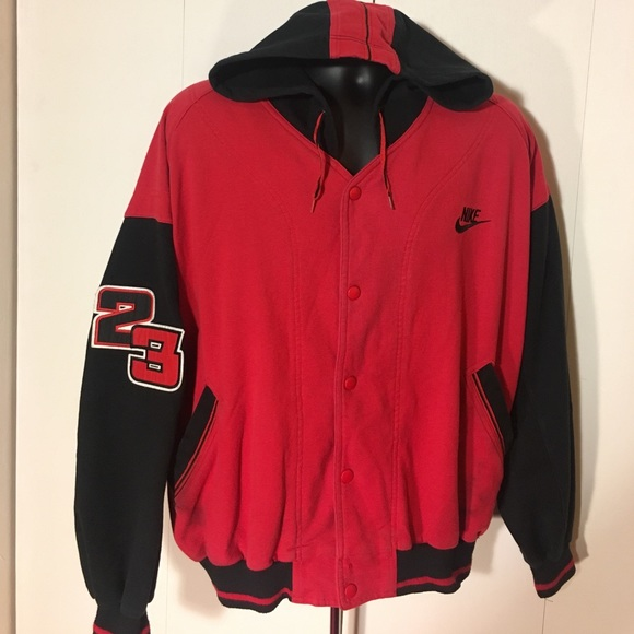 56b69885518cbb Vintage Nike Jordan Button Up Hoodie x Sweatshirt.  M 589a4ce841b4e0188d01ce4b