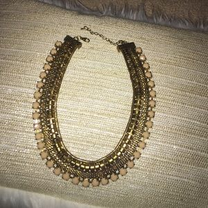 Jewelry - Gold and blush statement necklace.