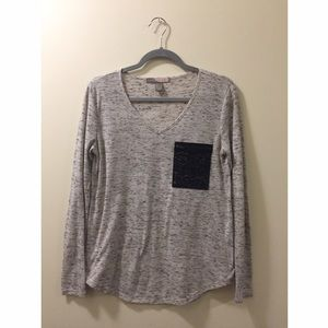 XXI Marled Gray Pocket Shirt