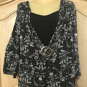 Apostrophe Tops - Designer apostrophe elegant blouse