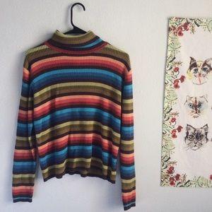 Sweaters - Vintage Striped Turtleneck