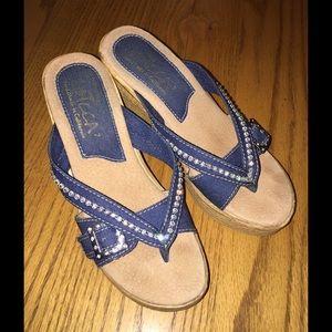 Sbicca Shoes - 😍SBICCA DENIM & RHINESTONE HORIZON WEDGES😍