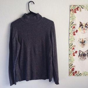 Dark Grey Wool Turtleneck