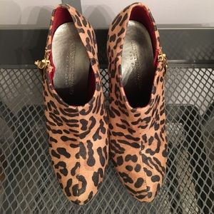 Christian Siriano Shoes - Christian Siriano Leopard Print Booties