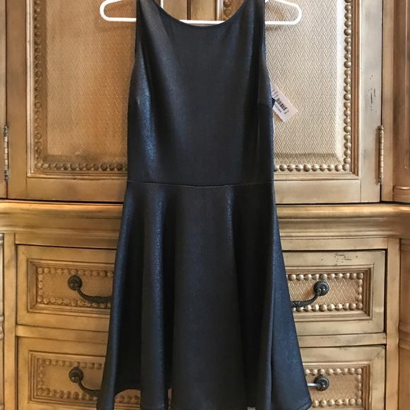 Aqua Dresses & Skirts - NWT - Shimmering LBD with fun scrappy back!