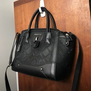 London Fog Black Bag Crossbody Satchel Handbag