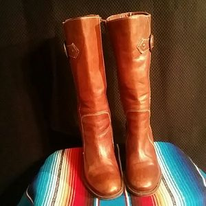 Womans Matisse Leather Riding Boots Sz7.5