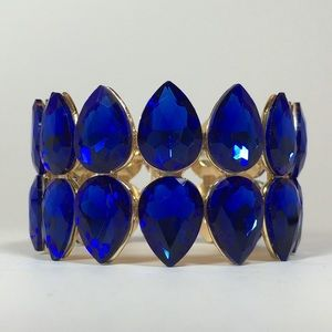 🐬Layton Bracelet - Gold with Blue Crystals