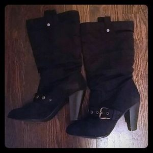 Classified Shoes - Black heel boots