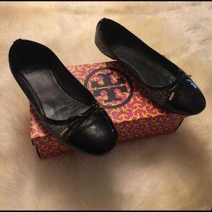 Tory Burch Shoes - Tory Burch faux skin snake flats