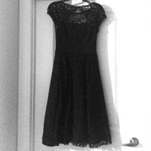 ABS Allen Schwartz Formal Black lace dress