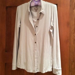 J. Jill Tops - Pale gray knit shirt & matching tank! $15 for two!