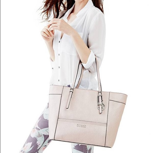 a899169ddd Guess Handbags - Guess Delaney Rose Gold Tote Bag