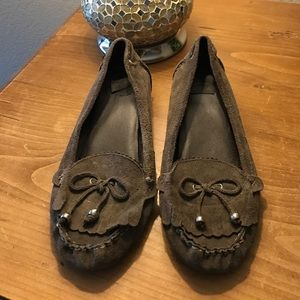 N.Y.L.A. Shoes - Gray Leather Moccasin -  9