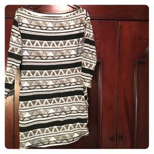 Tribal pattern bodycon dress