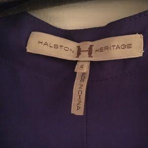 HALSTON HERITAGE Tops - HALSTON HERITAGE Stunning  PURPLE SILK BLOUSE