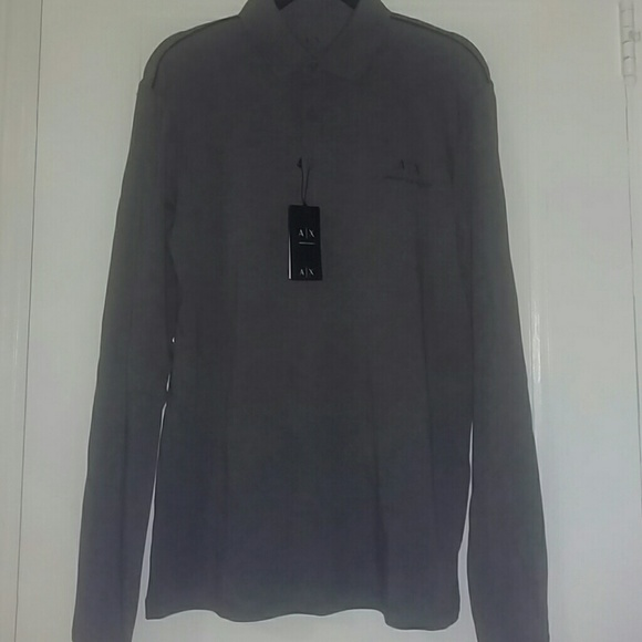 a858c848f Armani Exchange Shirts | Long Sleeve Polo Shirt | Poshmark