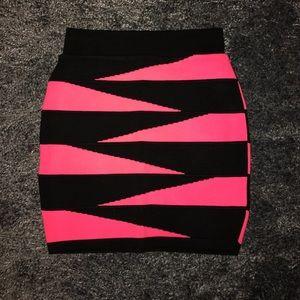 Necessary Clothing Dresses & Skirts - Black pink skirt