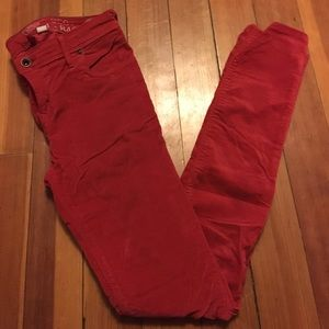 Jack Wills Denim - Jack Wills Red Velvet Skinny Jeans
