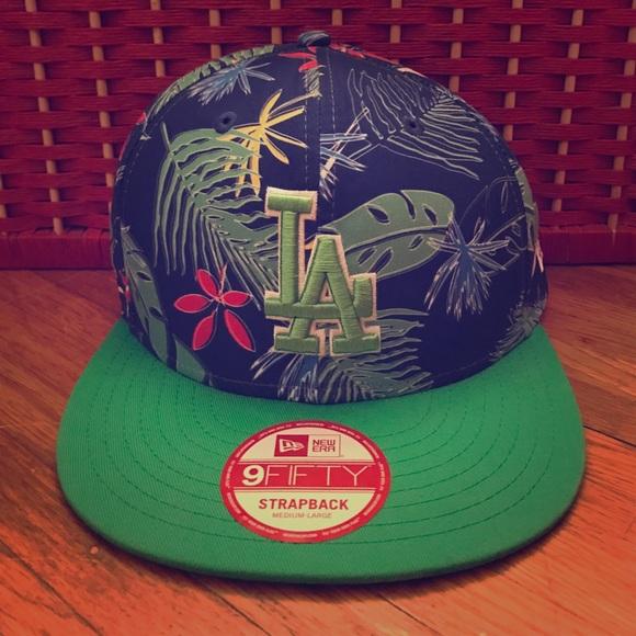 New Era Other - New LA Tropical Blue Green Strapback New Era Hat