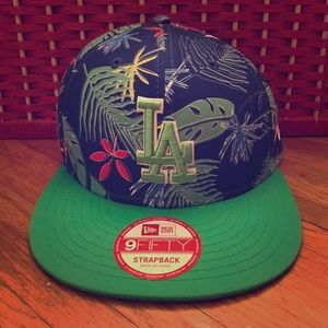New Era Accessories - New LA Tropical Blue Green Strapback New Era Hat