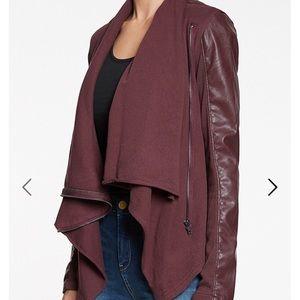 Blank NYC Jackets & Blazers - BLANK NYC faux leather drape jacket