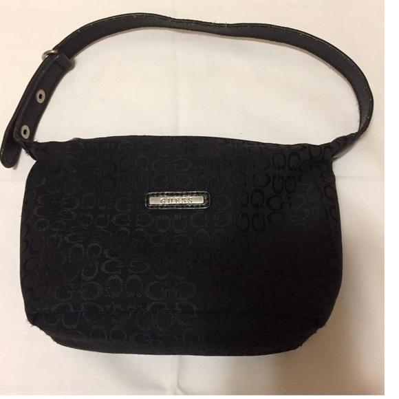 Guess Bags   Vintage Small Black Handshoulder