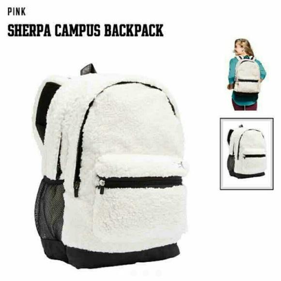 e56c6d9dfee PINK Victoria s Secret Soft Sherpa Campus Backpack
