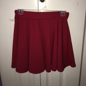 Red Wine Skater Skirt