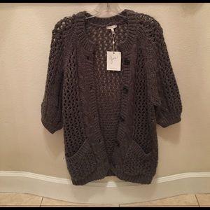 Joie Gray Knit Cardigan