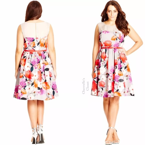 City Chic Dresses | Fit Flare Dress Plus Size Easter Wedding | Poshmark