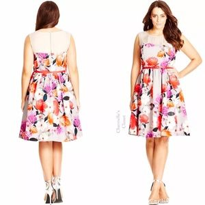 City Chic Dresses & Skirts - City Chic Fit Flare Dress Plus Size Easter Wedding