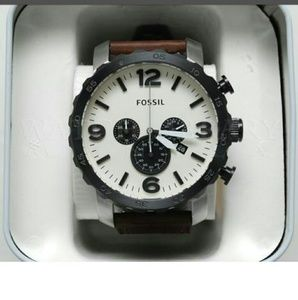 fossil Other - NWT fossil men's chronograph eggshell watch