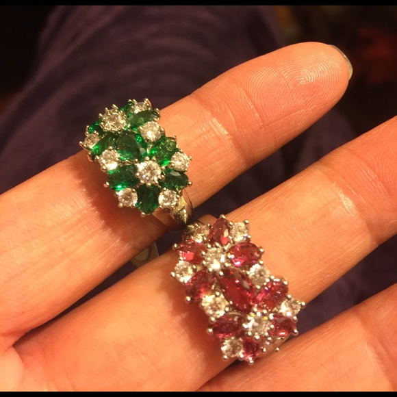New Ruby n Emerald Sapphire Ring