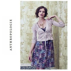Anthropologie Floreat Sugar& Cream Dress
