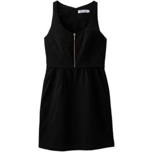 Shipley & Halmos Dresses & Skirts - Shipley & Halmos Black Uniqlo Front Zipper Dress