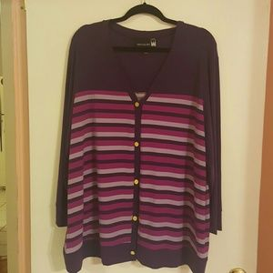 Antthony Sweaters - Antthony Striped Cardigan