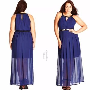 City Chic Dresses & Skirts - City Chic Pleated Bodice Maxi Dress Plus Size