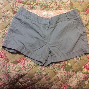 J. Crew Pants - J Crew Grey Chino Shorts Women's SZ 6
