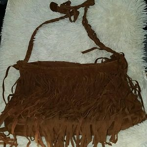 🧒Brown Tassle Handbag👧
